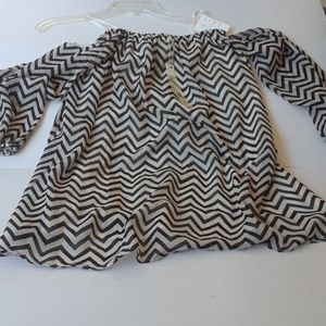 Ya Los Angeles open shoulders blouse nwt